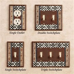 Tribal Single Switch Brown