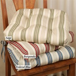 Kimberly Stripe Chair Cushion 17 x 15