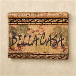 Bella Casa Wall Plaque Saddle Brown