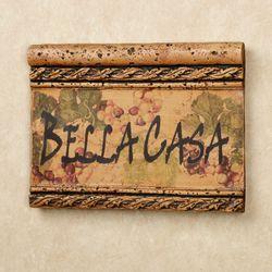 Bella Casa Wall Plaque Saddle Brown