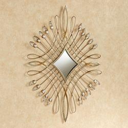 Julietta Metal Wall Accent Champagne Gold