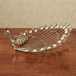Julietta Peacock Tabletop Accent Champagne Gold
