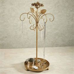 Rosabella Jewelry Holder Tarnished Gold