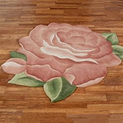Cordial Garden Flower Shaped Rug Brick