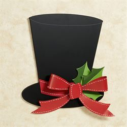 Black Top Hat Wall Decoration