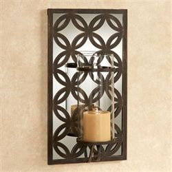 Reinier Mirrored Wall Sconce Antique Bronze