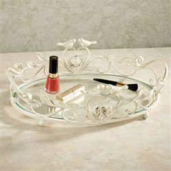 Wings of Love Vanity Tray Ivory/Gold