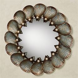 Hidden Pearls Wall Mirror Golden Bronze
