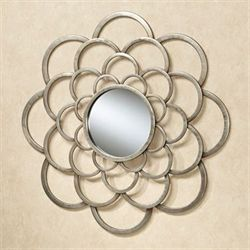 Rosalbra Mirrored Wall Art Platinum