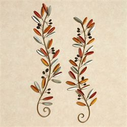 Fall Medley Wall Art Set Multi Warm Set of Two