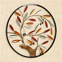 Fall Medley Round Wall Art Multi Warm