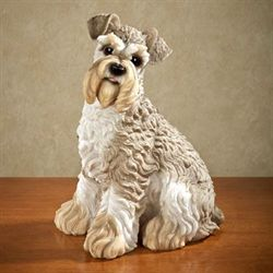 Schnauzer Sculpture Light Taupe