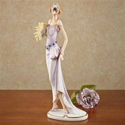 Jeweled Lady Figurine Light Amethyst