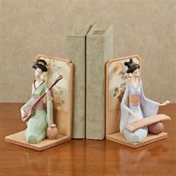 Geisha Girls Bookend Pair Multi Pastel