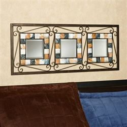 Darius Tiled Wall Mirror Panel Brown