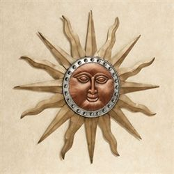 Radiant Shine Sun Wall Art Multi Metallic