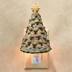 Holiday Christmas Tree Nightlight Multi Warm
