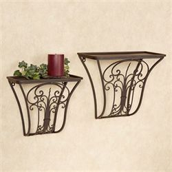 Jada Wall Shelf Set Antique Bronze Set of Two