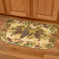 Antique Grapes II Slice Cushion Mat Multi Warm 30 x 18