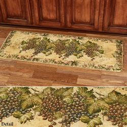 Antique Grapes II Cushioned Runner Mat Multi Warm 55 x 20