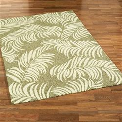 Sunlight Frond Rectangle Rug Sage