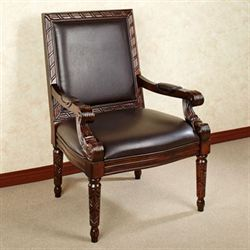 Nia Accent Chair Natural Cherry