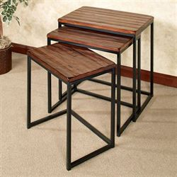 Nelson Nesting Tables Brown Set of Three