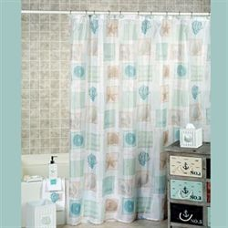 Seaside Shower Curtain White