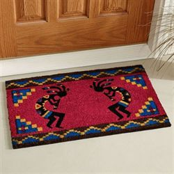 Kokopelli Coir Doormat Dark Red 30 x 18