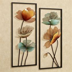 Tuscany in Bloom Wall Art Panels Brown Set of Two