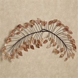 Branches at Sunrise Metal Wall Topper Copper