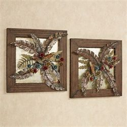 Wonderful Tropical Gardens Wall Art Set Multi Earth Set Of Two