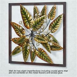 Tranquil Tropics Metal Wall Art Green