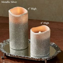 Glitter LED Candle with Timer