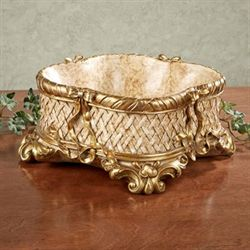 Charlotta Decorative Bowl Antique Gold