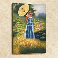 Sunday Stroll Canvas Art Multi Pastel