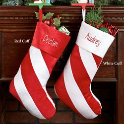 Red Candy Stripe Christmas Stocking