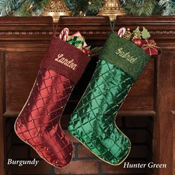Elegant Beaded Christmas Stocking