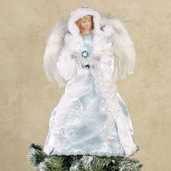 Winter Angel Christmas Tree Topper Light Blue