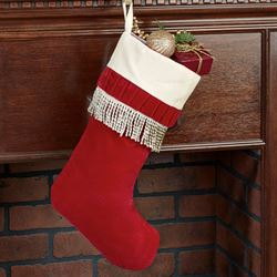 Celebration Christmas Stocking Burgundy