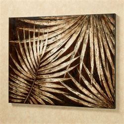Tropical Foliage Wall Art Brown