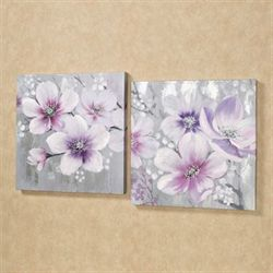Simplistic Beauties Canvas Wall Art Set Multi Pastel Set of Two