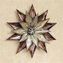 Bella Flora  Metal Wall Art Purple