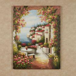 Seaside Village Canvas Wall Art Multi Warm