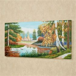 Woodland Retreat Canvas Wall Art Green
