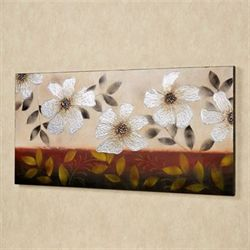 Floral Dance Canvas Wall Art Multi Metallic