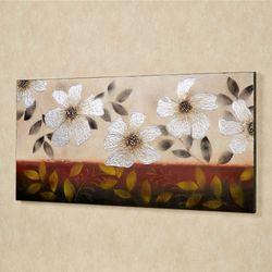 Floral Dance Canvas Wall Art Multi Metallic
