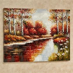 Autumn Afternoon Canvas Art Multi Warm