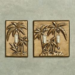 Palm Tree Single Switch Antique Brass