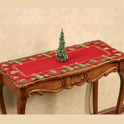 O Christmas Tree Short Table Runner Red 16 x 36